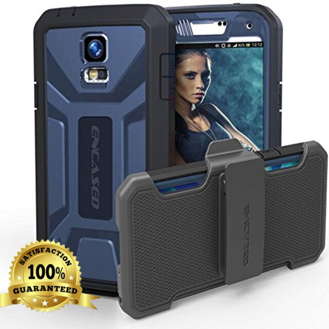 Galaxy S5 | Tough Shockproof Armor [DEFENDER PRO] Case + Belt Clip Holster  Blue