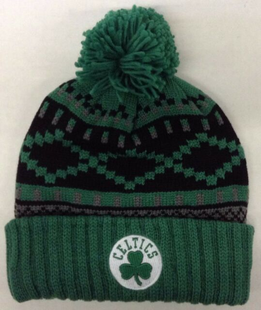 Boston Celtics Knit Hat adidas Green Snowflake Pom Beanie Stocking Cap NBA 894ef73c70d