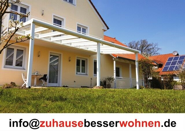 Terrassenüberdachung Terrassendach Aluminium Anthrazit VSG Glas 700 x 250 cm