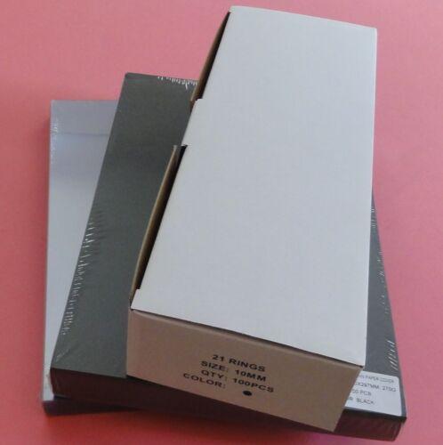Comb Binding Set of 100 - 10mm binding comb_PVC cover_Leathergrain Back - Black