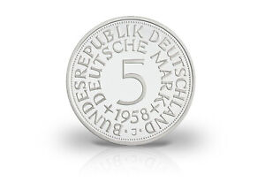 5 DM 1958 J mit Silber
