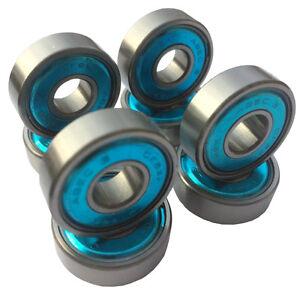 Crazy-Creek-ABEC-3-Skateboard-Kugellager-8-Stueck-Longboard-608zz-Bearings