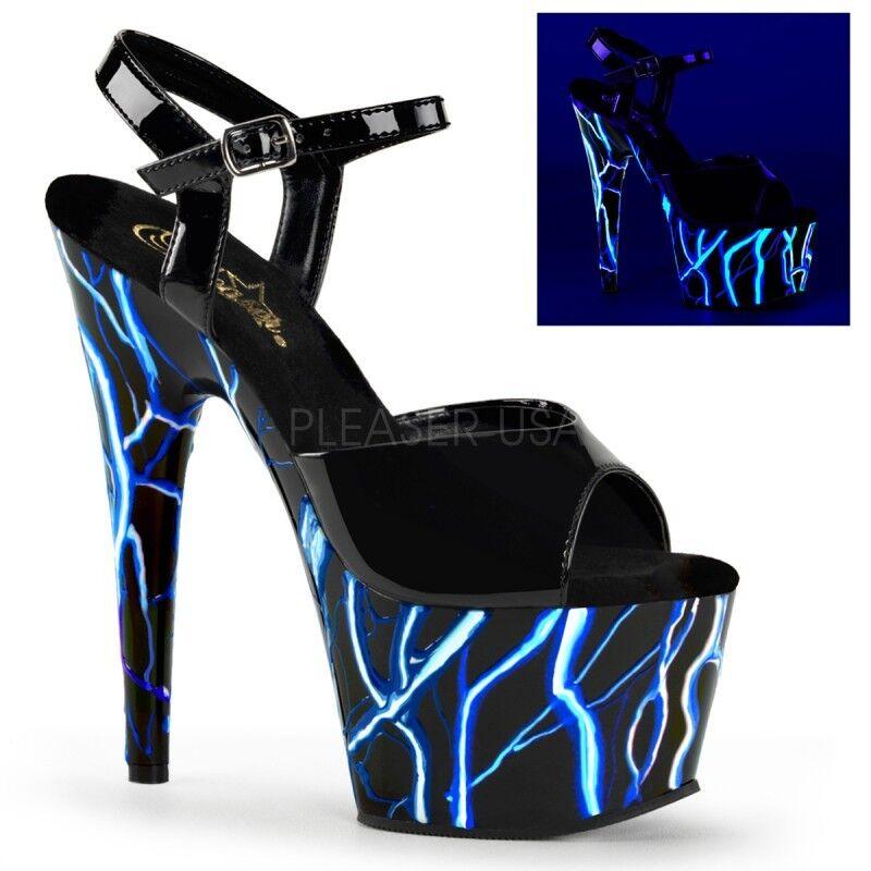 Pleaser adore 709NLB chaussures chaussures femme chaussures 709NLB sandales à brides cheville sangle plateforme talon haut 396341