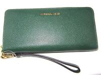 Michael Kors Mercer Travel Continental Travel Wallet Moss Green Id Protection