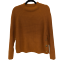 Topshop-PETITE-Brown-Knitted-Popper-Side-Crewneck-Sweater-Fashion-Women-039-s thumbnail 1
