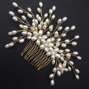 Handmade-Bride-Women-Hair-Comb-Wedding-Pearl-Bridal-Headwear-Hair-Accessories