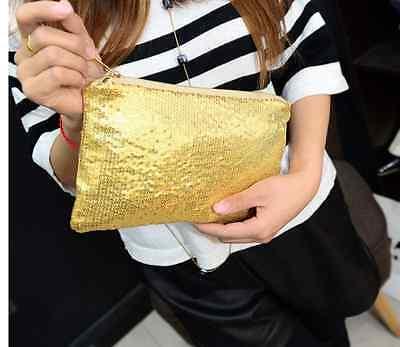 Clutch klein mittel Pailletten schwarz gold silber rosa Style Handtasche Party