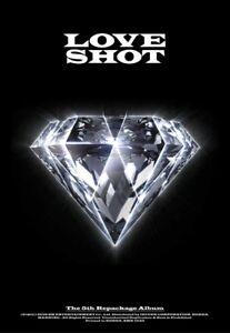 EXO-LOVE-SHOT-5th-Repackage-Album-LOVE-CD-POSTER-Foto-Buch-Foto-Karte-SEALED