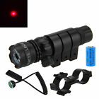 Tactical Red Laser Sight Scope Rifle Gun w/Remote Switch and Rail Mounts+Battery