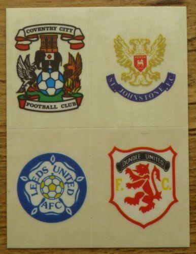 Panini Football 91 Team Badges
