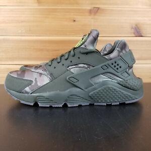 Details about Nike Air Huarache Run Camo Cargo Khaki Running Men's Shoes AT6156 300