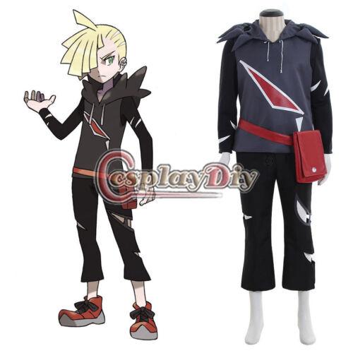 NEW Game Anime Pokemon Sun and Moon Gladion Cosplay Costume NN.4638