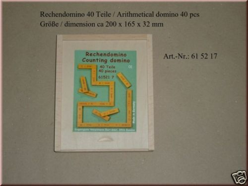 RECHENDOMINO, 40 Teile, Addieren Subtrahieren , Ebert