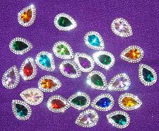 multi colour clear sew On Jewel 18mm GEM CRYSTAL RHINESTONE trim Bead