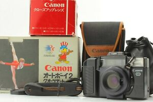Exc-4-in-Box-Canon-Autoboy2-Point-amp-Shoot-Film-Camera-Closeup-lens-From-JAPAN