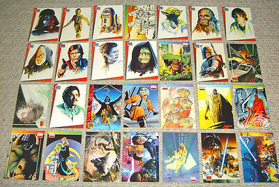 Star Wars Galaxy Bend-Ems Promo Card Set (28) A-BB Just Toys Topps Rare
