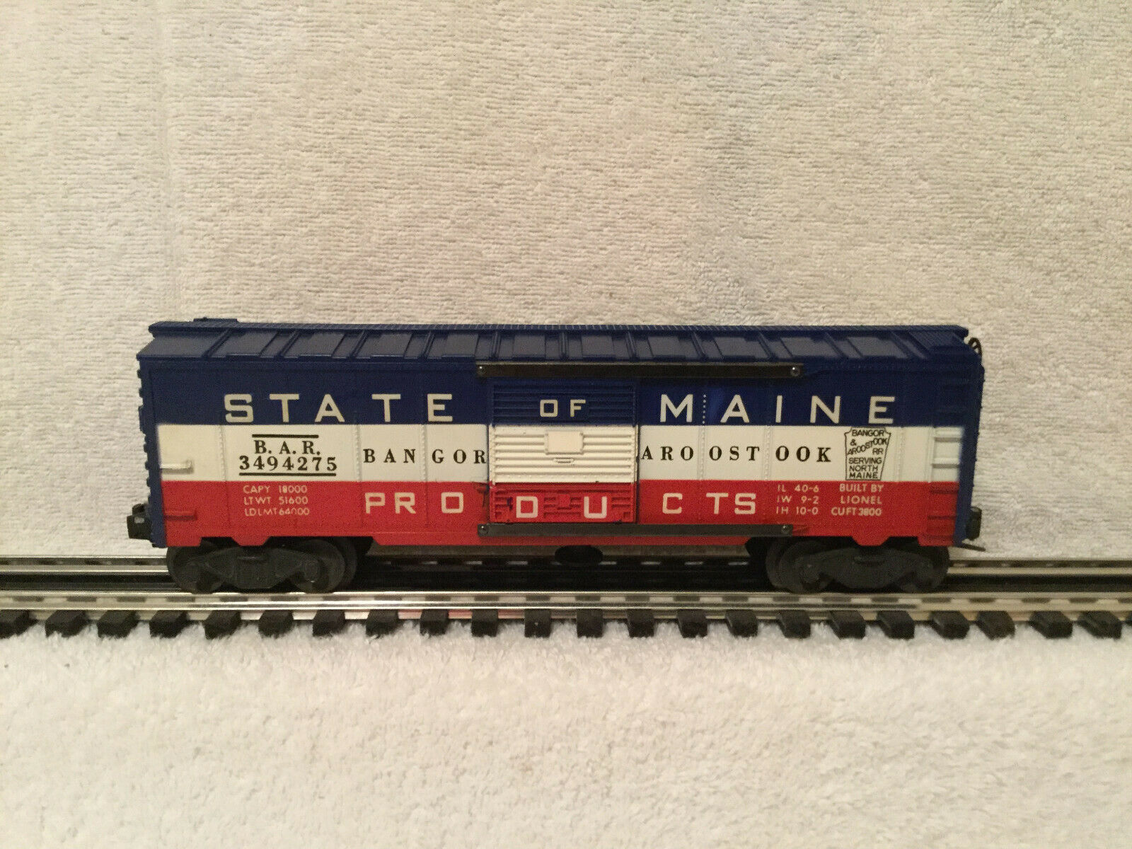 Lionel Postwar 3494-275 State of Maine Op Box voiture