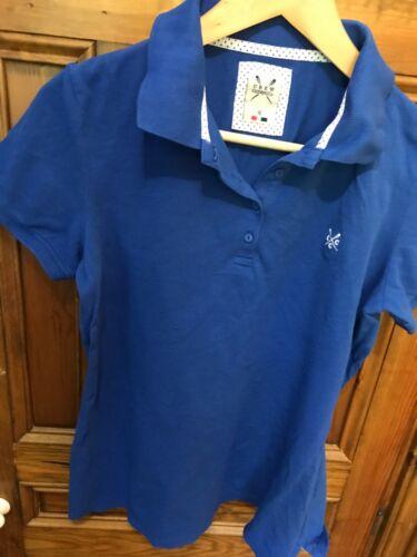 Crew Clothing Bleu Polo Taille 12 très bon état