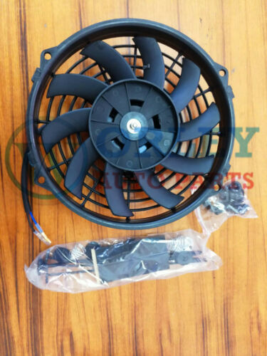 For Universal Electric Cooling Fan 9 inch 12V volt Thermo Fan Mounting kits