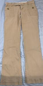 Abercrombie Fitch Mujer Ajustados Mediados De Subida Caqui Beige Pantalones Talla 2 W 26 Ebay