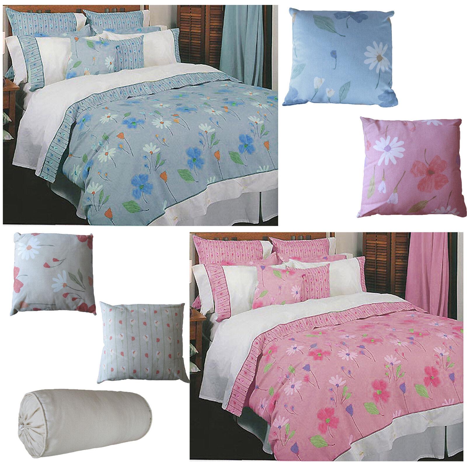 QUALITY Italian Fabric 100% Cotton Daisy Quilt Doona Duvet Cover Set QUEEN KING