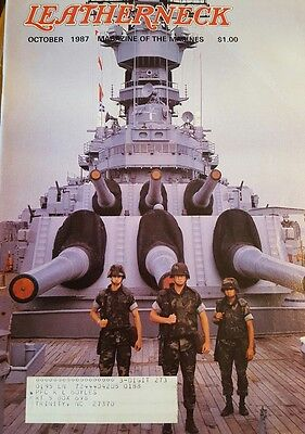 The Leatherneck Magazine of the US Marines October, 1987 issue, Volume LXX, #10