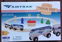 Daron Amtrak 20 Piece Wooden Train Set Ty045