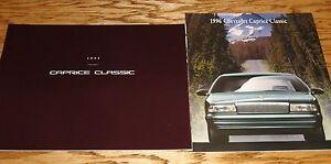 Original-1995-1996-Chevrolet-Caprice-Sales-Brochure-Lot-of-2-95-96-Chevy