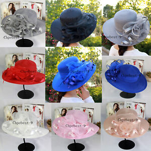 Bridal-Tea-Party-Wedding-Hats-Women-039-s-Organza-Church-Kentucky-Derby-Fascinator