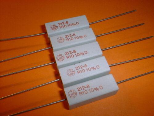 7 Watt Wirewound-Power-Widerstand 5x 0,1 Ohm