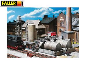 Faller-H0-120157-Ollager-mit-Dieseltankstelle-und-Olkran-NEU-OVP
