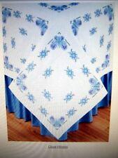 Parasol Lady Cross Stitch 6 Quilt Stamped Squares Jack Dempsey NIP