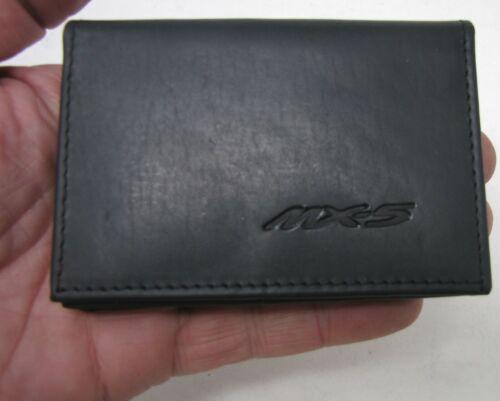 Mazda MX-5 logo Black Leather wallet credit card size ID holder it126 licence