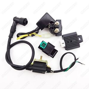 ignition coil cdi rectifier solenoid starter relay 50cc. Black Bedroom Furniture Sets. Home Design Ideas
