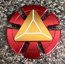 MARVEL Red Iron Man Arc Reactor Round EDC Fidget Spinner Toy 🇺🇸US FAST SHIP 🛫