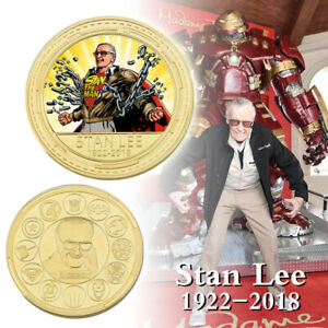 WR-Marvel-039-s-Father-Stan-Lee-Gold-Commemorative-Coin-Collectible-Gift-Fans-Gift