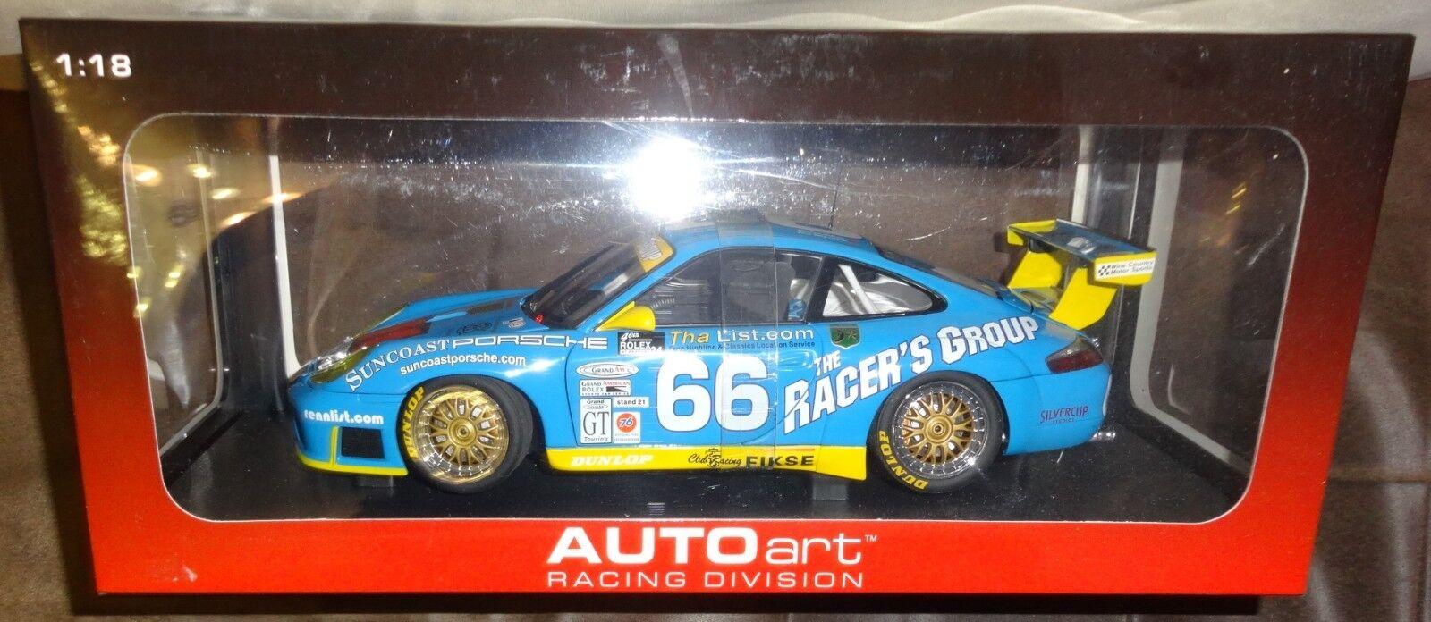 1:18 Autoart 80273 PORSCHE 911 gt3r DAYTONA 24hrs GT CLASS WINNER 2002  RACER's