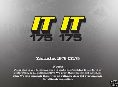 YAMAHA 1979 IT175 WICKED TOUGH TANK DECALS GRAPHICS LIKE NOS