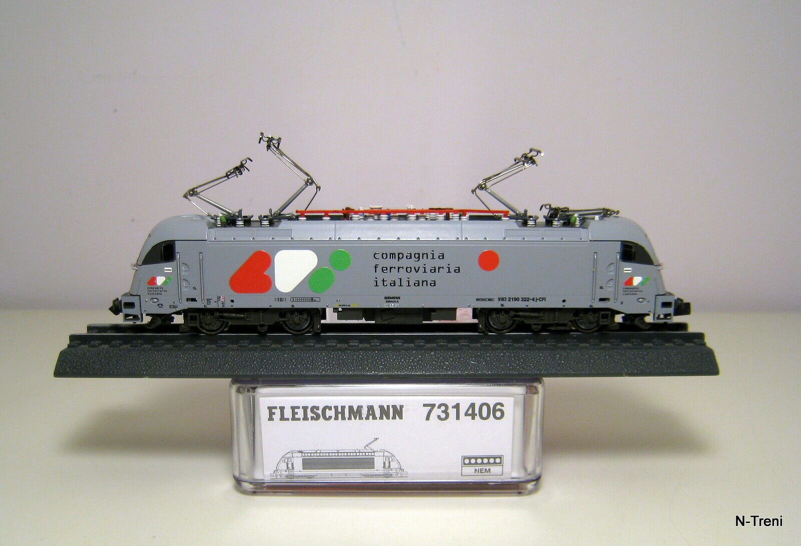 Fleischuomon N 731406  Loco elettrica Taurus E190 322 delle CFI