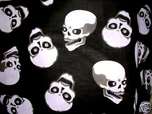 NEW-WILD-amp-WICKED-GOTHIC-EVIL-SKULLS-BLACK-GRAY-WHITE-BANDANA-HEAD-WRAP-SCARF