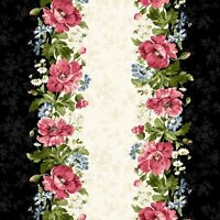 Poppies By Maywood Studio - Black Border Stripe