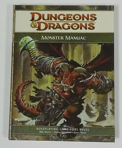 d d 4th edition monster manual 1 new read roleplaying d20 core rules rh ebay com monster manual 1st edition d&d 4e monster manual 1 pdf