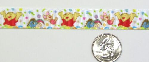 """Disney Grosgrain ribbons #1 Winnie the Pooh Piglet Eeyore 1.5/"""" 1/"""" 5//8/"""" authentic"""