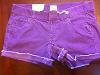 Mossimo Corduroy Shorts Purple Size 7 Frayed Daisy Duke