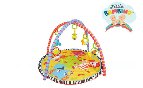 Play Gym Safari Play Mat Newborn Baby Playmat Musical Rattle Activity Gym,0-36