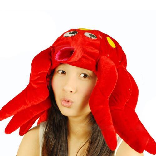 Men Women Octopus Lobster Crab Clownfish Sea Animal Costume Cap Hat Party Props
