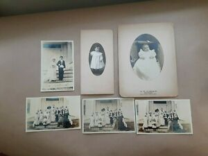 Four photographs Tom Thumb marriage wedding, possibly Rumford Falls, Maine + two
