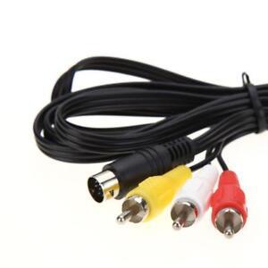 Sega-Genesis-2-3-32x-CDX-Nomad-6ft-RCA-Audio-Video-AV-TV-Composite-Cable-Cord