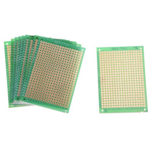 10x Lochrasterplatine Platinen Leiterplatten Streifenraster 5x7cm J5J5