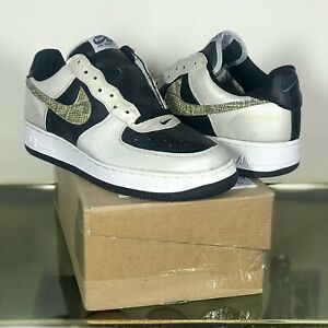 Details about DS RARE SZ 11 2001 NIKE AIR FORCE 1 B CO JP 3M SNAKE SKIN BLK SILVER 624040 001